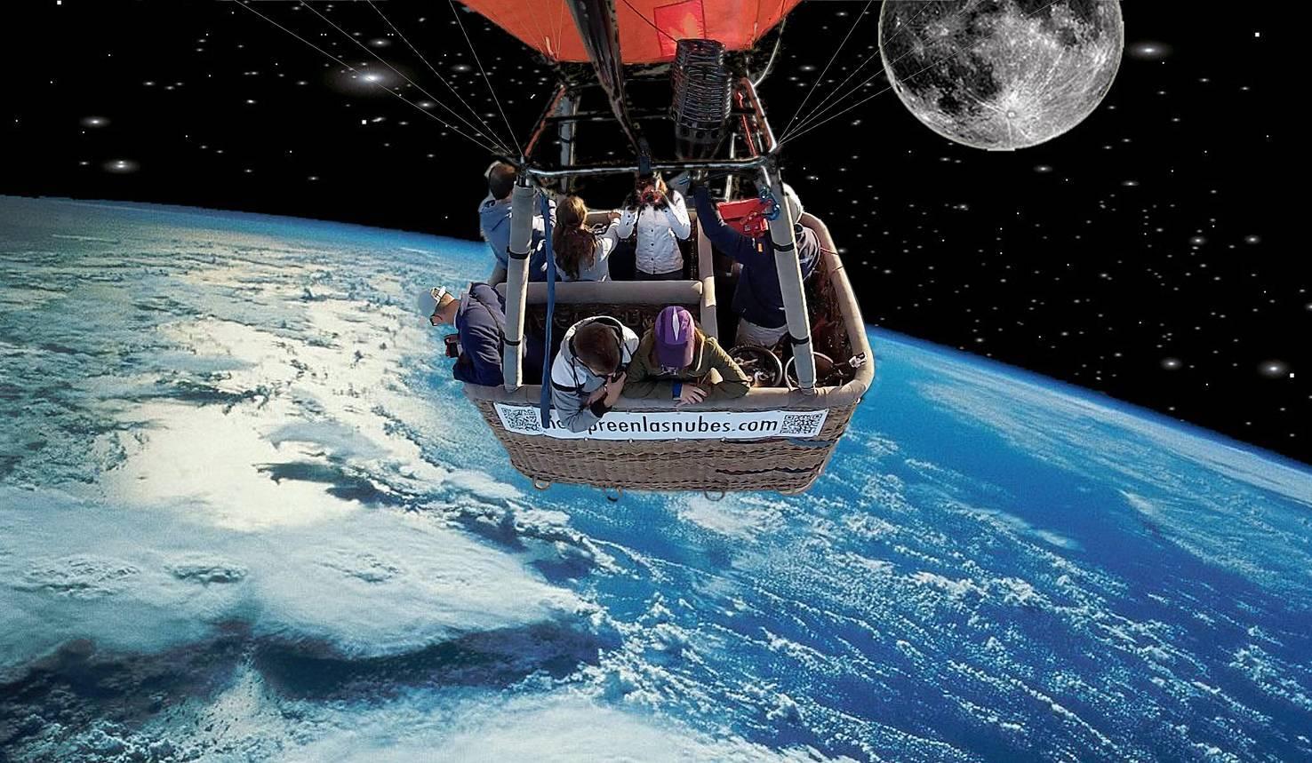 En globo al espacio