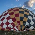 La vela de un globo aerostático