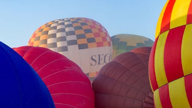 Exito del festival de globos
