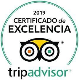 Certificado de excelencia Trip Advisor 2019