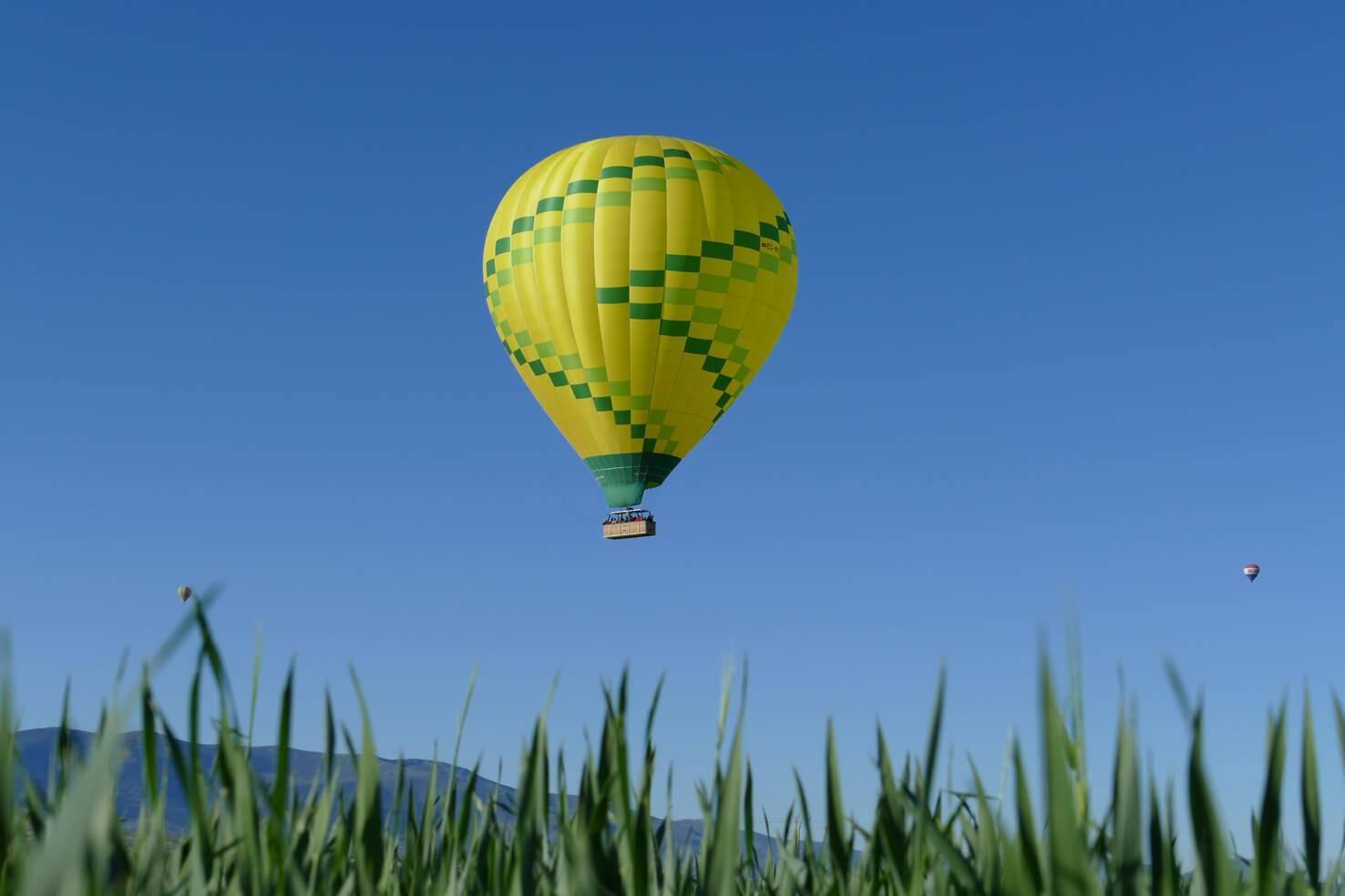 Emociones del vuelo en globo