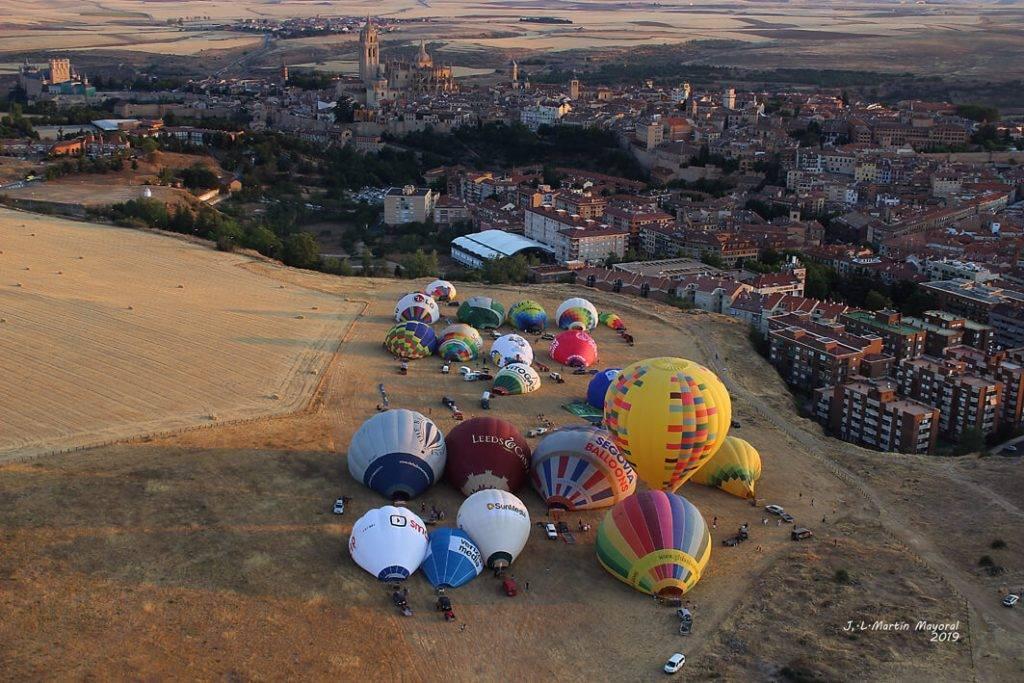 Campo de despegue de los globos