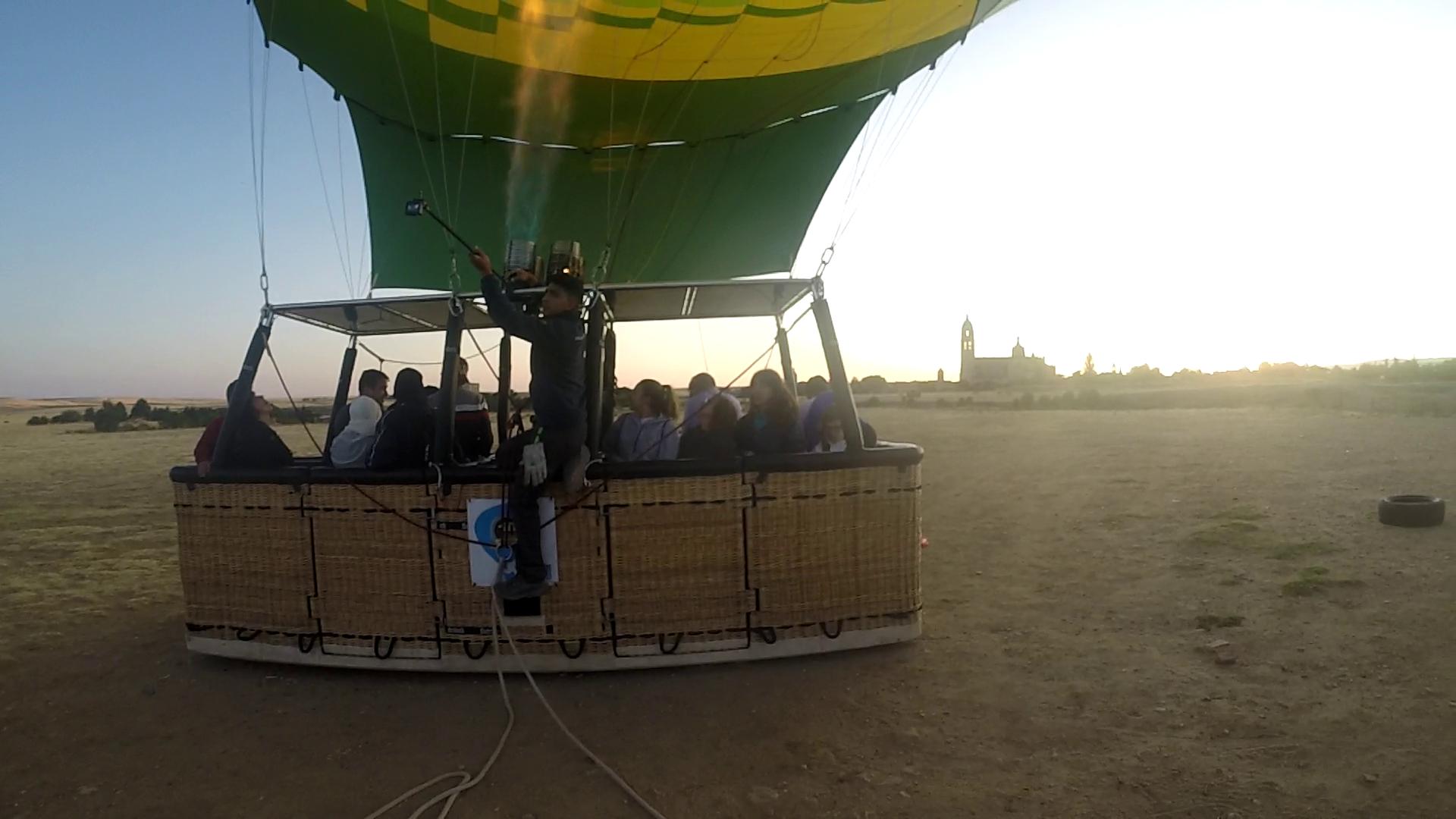 vuelo en globo en segovia 30-7-19
