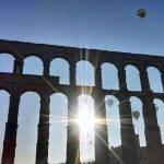 El Acueducto de Segovia desde un globo
