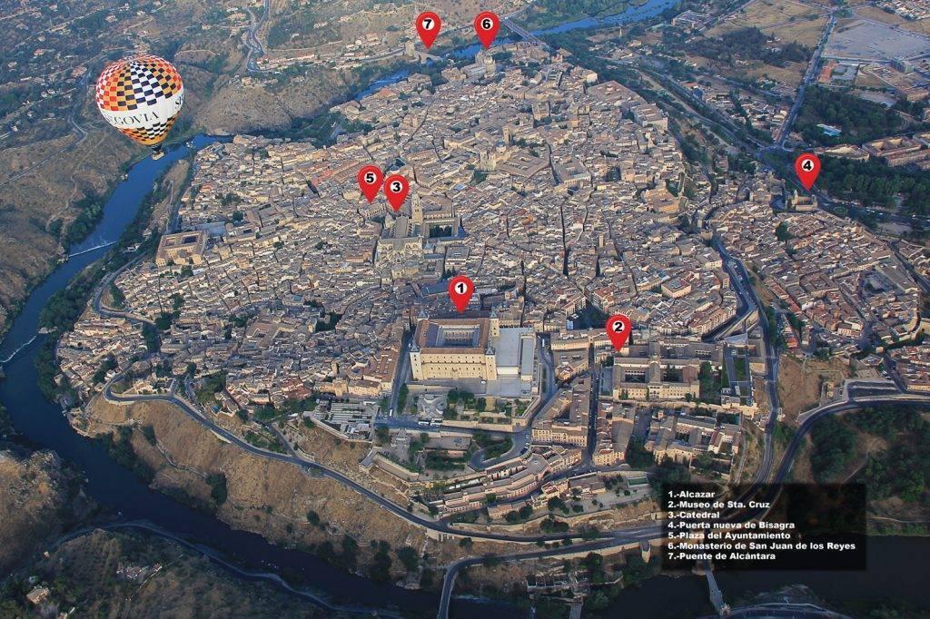 Mapa aéreo de Toledo