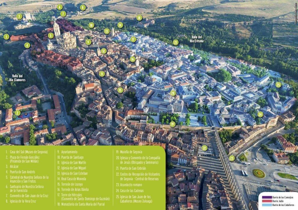 Segovia desde un globo